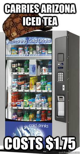 arizona iced tea vending machine