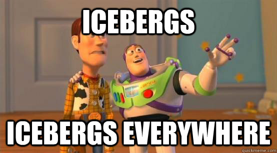 icebergs icebergs everywhere - Buzz Glitter