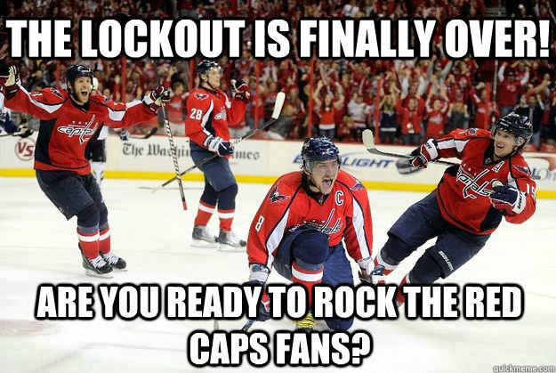 are you ready to rock the red caps fans the lockout is fina -
