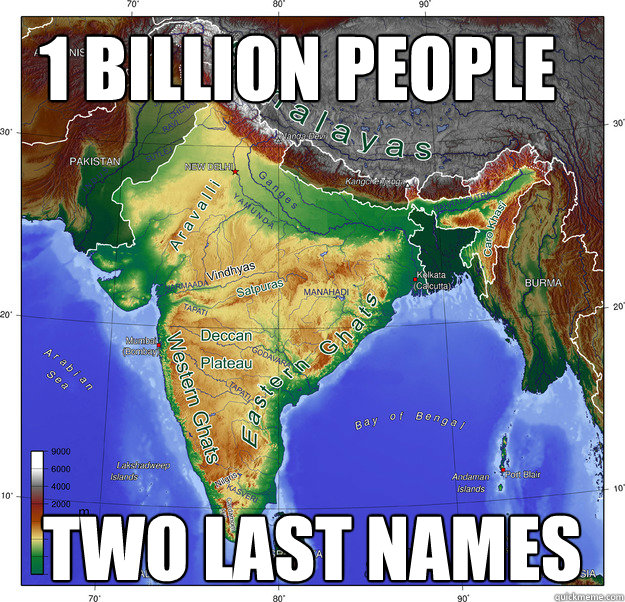 1 billion people two last names -