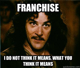 franchise i do not think it means what you think it means - Princess Bride