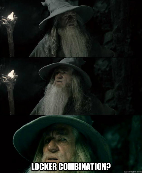 locker combination - Confused Gandalf