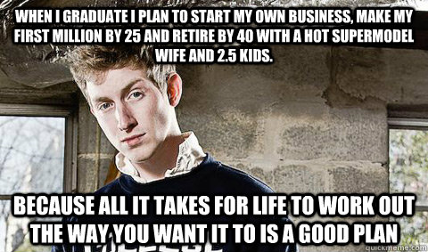 when i graduate i plan to start my own business make my fir - Young Libertarian