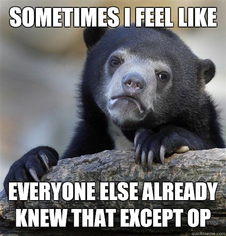 Sometimes I feel like I automatically think of them as less  - Confession Bear