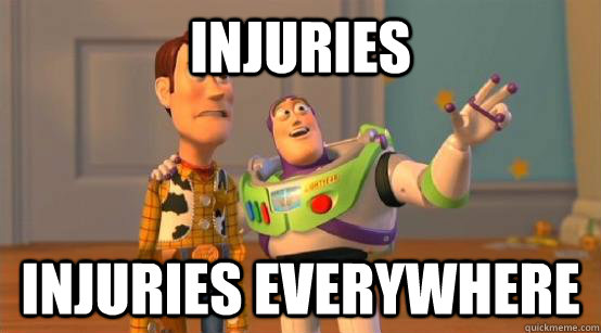 injuries injuries everywhere - Buzz Glitter
