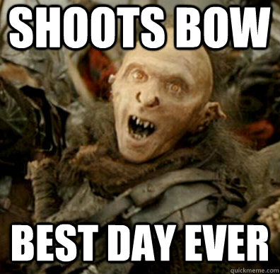 shoots bow best day ever -