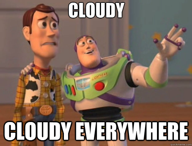 cloudy cloudy everywhere - Toy Story
