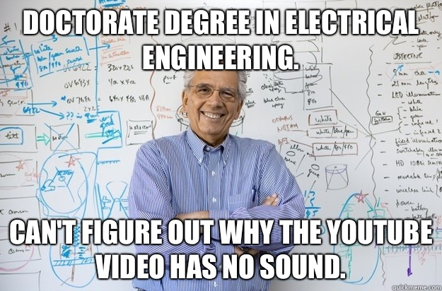 Doctorate degree in electrical engineering Cant figure out w - Engineering Professor