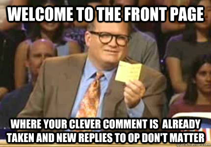 welcome to the front page where your clever comment is alre - Whose Line
