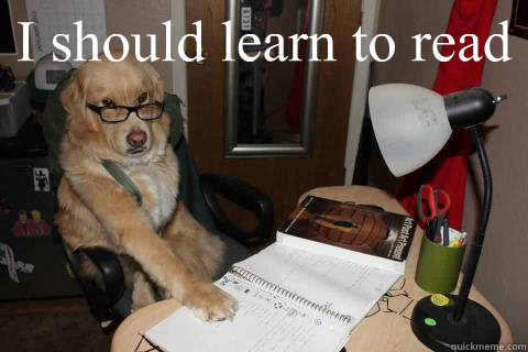 i should learn to read  - SmartDog