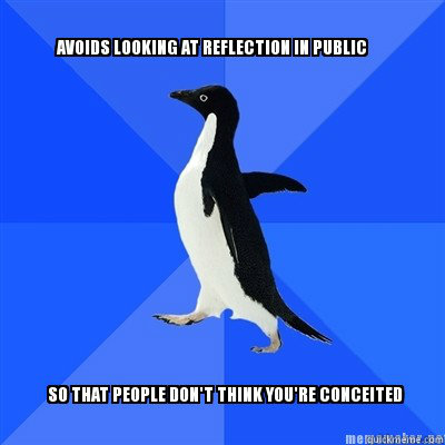 top caption bottom caption - Socially Awkward Penguin