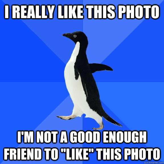 i really like this photo im not a good enough friend to li - Socially Awkward Penguin