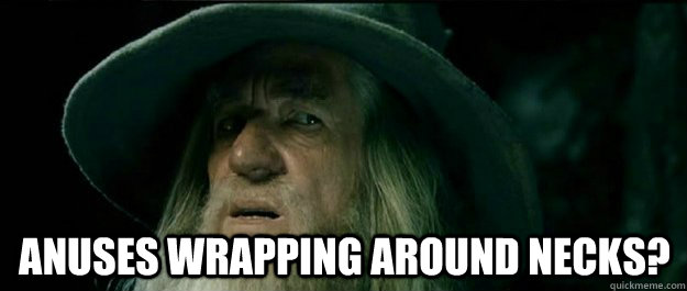 anuses wrapping around necks - Gandalf