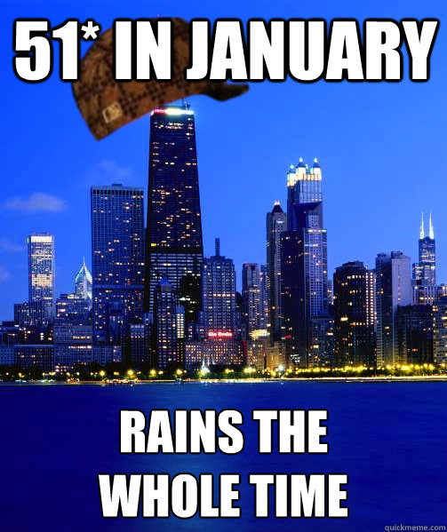 51 in january rains the whole time - Scumbag Chicago Sports