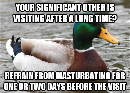 your significant other is visiting after a long time refrai - Actual Advice Mallard