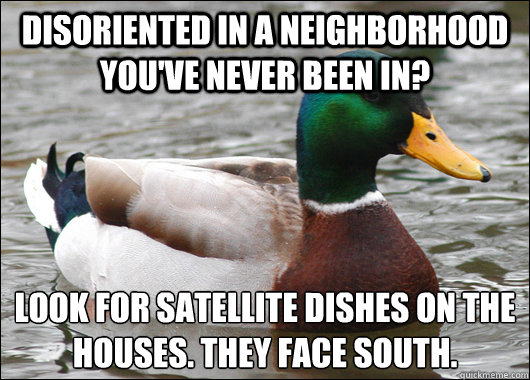 disoriented in a neighborhood youve never been in look for - Actual Advice Mallard