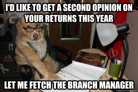 id like to get a second opinion on your returns this year l - Financial Advice Dog