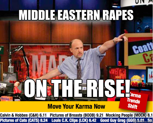 middle eastern rapes on the rise - Mad Karma with Jim Cramer