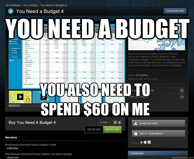 you need a budget you also need to spend 60 on me - Scum Bag You Need A Budget 4