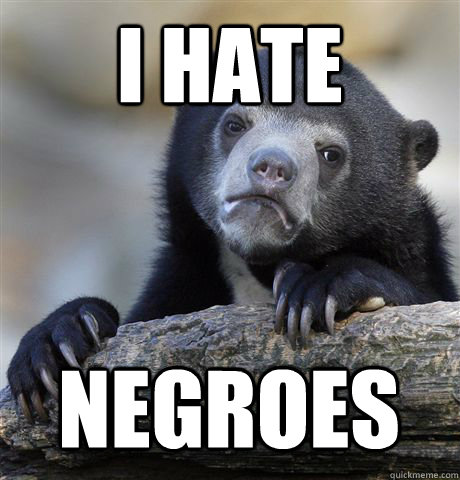 i hate negroes - Confession Bear