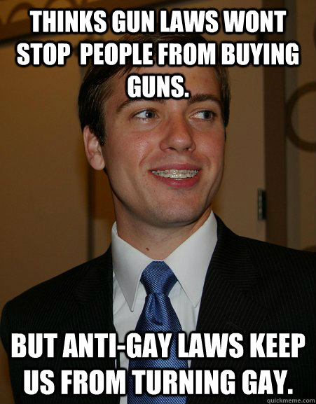 thinks gun laws wont stop people from buying guns but anti - College Republican