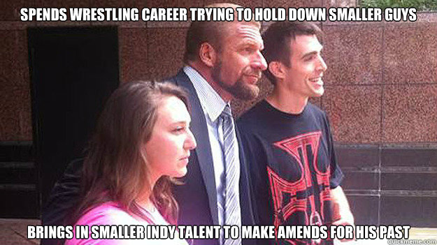 spends wrestling career trying to hold down smaller guys bri - Good Guy Triple H