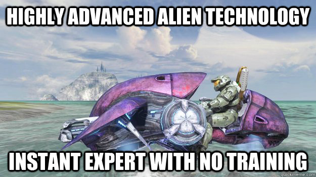 highly advanced alien technology instant expert with no trai - Alien Red Baron