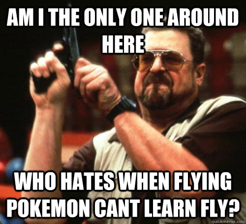 am i the only one around here who hates when flying pokemon  - Am I The Only One Around Here