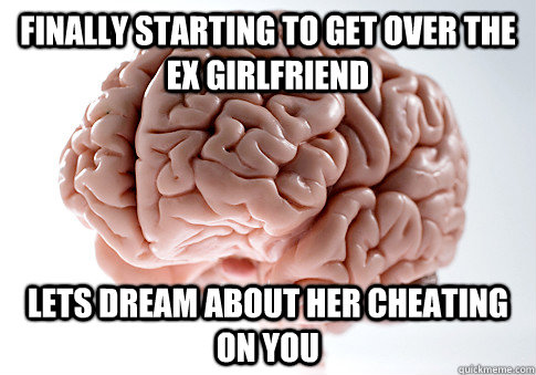 finally starting to get over the ex girlfriend lets dream ab - Scumbag Brain