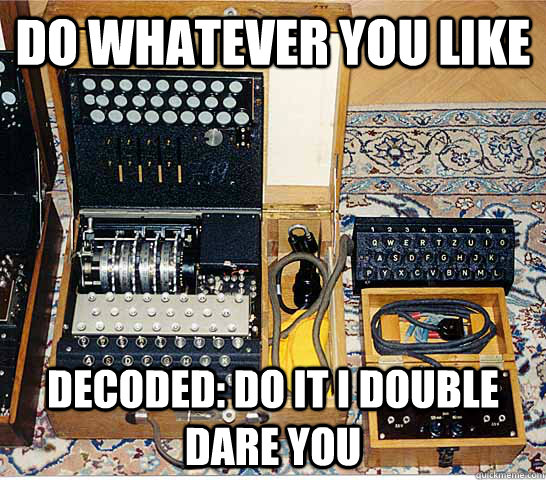 do whatever you like decoded do it i double dare you - Enigmatic Enigma