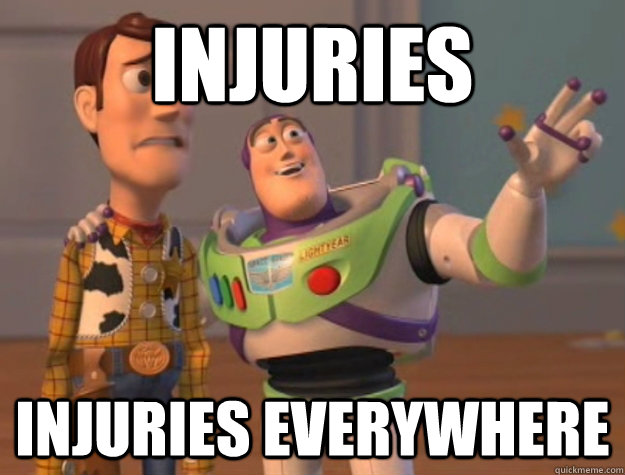 injuries injuries everywhere - Buzz Lightyear