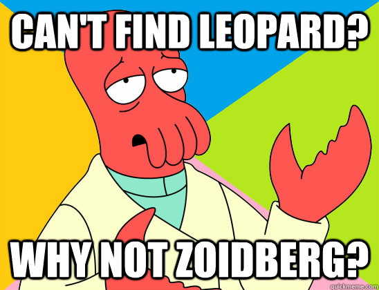 cant find leopard why not zoidberg - Futurama Zoidberg