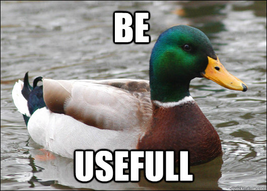 be usefull - Actual Advice Mallard