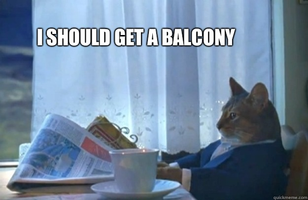 I should get a balcony - Sophisticated Cat