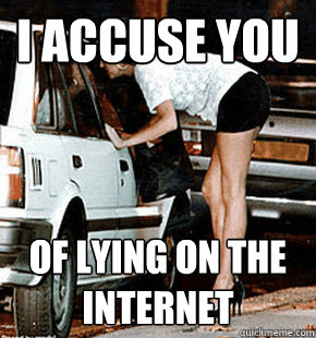 i accuse you of lying on the internet - FB karma whore