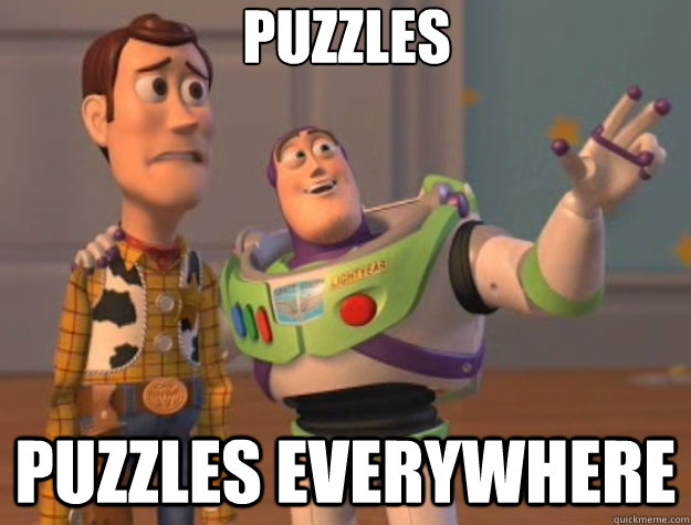 puzzles puzzles everywhere - Toy Story