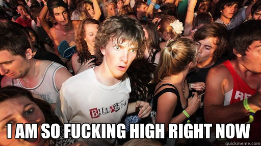 i am so fucking high right now  - Sudden Clarity Clarence