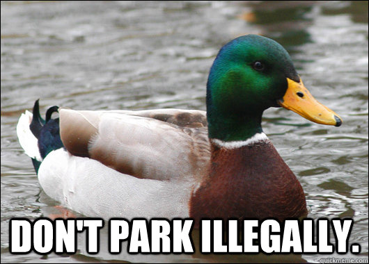 dont park illegally - Actual Advice Mallard