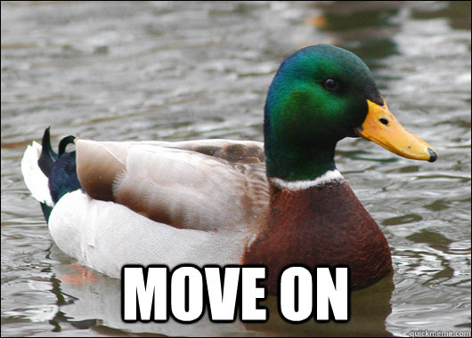 move on - Actual Advice Mallard