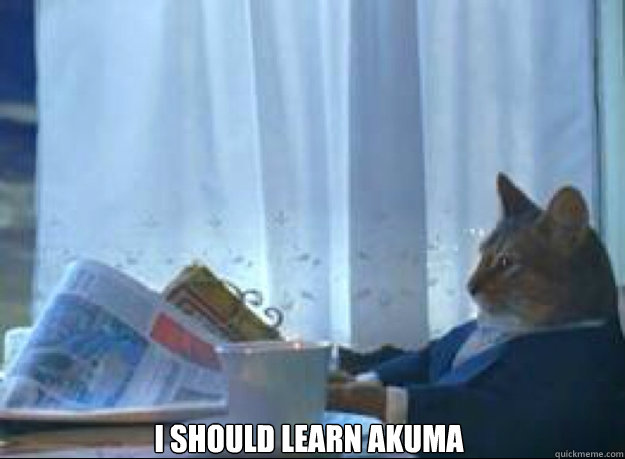 i should learn akuma  - I should buy a boat cat
