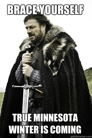 brace yourself true minnesota winter is coming - NED STARK