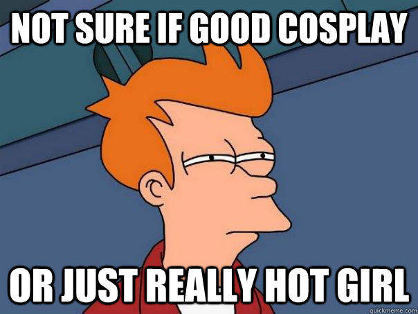 not sure if good cosplay or just really hot girl - Futurama Fry