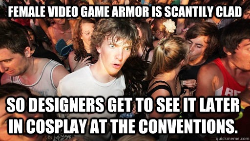 female video game armor is scantily clad so designers get to - Sudden Clarity Clarence
