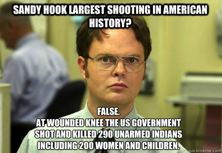 sandy hook largest shooting in american history false at  - Schrute