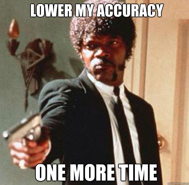 lower my accuracy one more time caption 3 goes here - Say One More Time