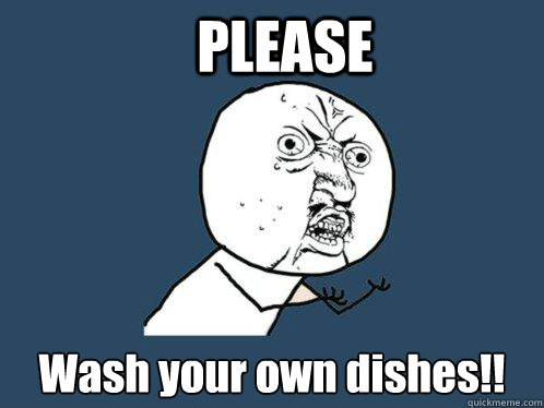 No - please wash your own dishes