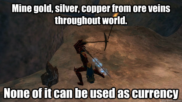 mine gold silver copper from ore veins throughout world n - MMORPG Logic