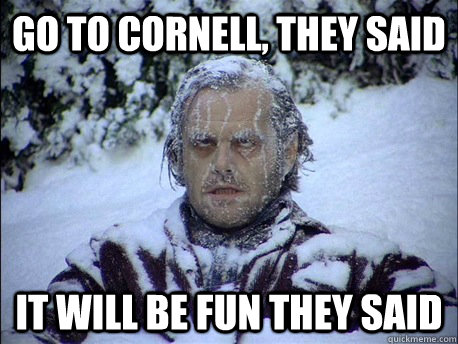 go to cornell they said it will be fun they said - Frozen Jack
