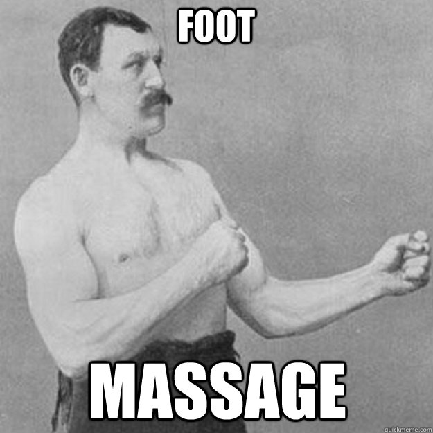 foot massage - overly manly man