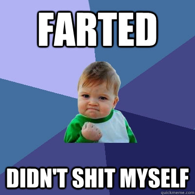 farted didnt shit myself - Success Kid